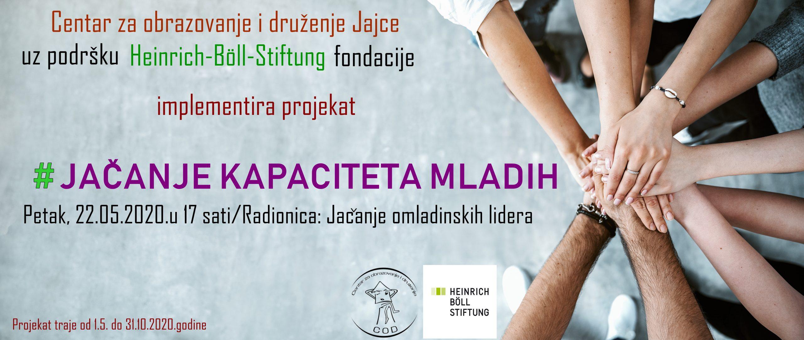 """COD/U petak druga radionica u okviru projekta """"Jačanje kapaciteta mladih"""""""